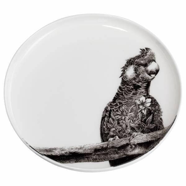 MARINI FERLAZZO Teller 20cm, Carnaby Cockatoo, Premium-Keramik, in Geschenkbox