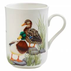 BIRDS OF THE WORLD Becher Ente, Bone China Porzellan, in Geschenkbox