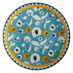 RHAPSODY Teller Blaugrün, 26,5 cm, Porzellan