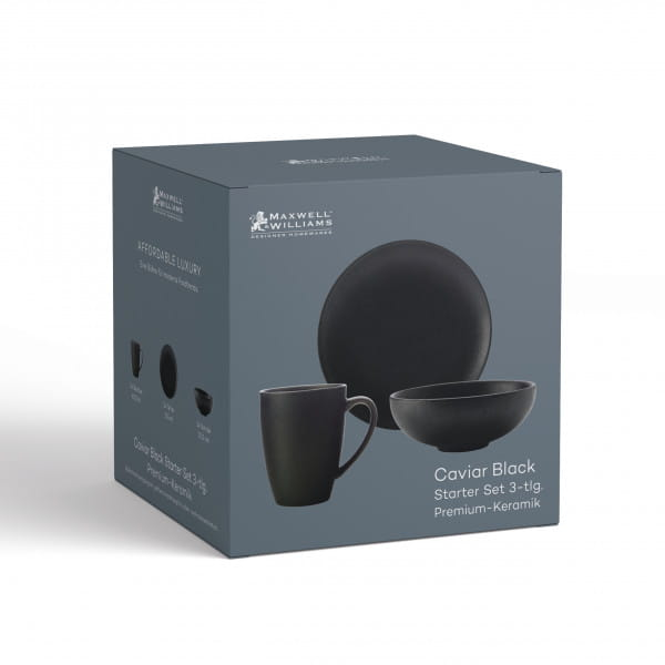 CAVIAR BLACK Starter-Set 3-tlg., Premium-Keramik, in Geschenkbox