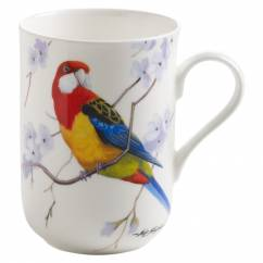 BIRDS OF AUSTRALIA Becher Rosellasittich, Bone China Porzellan, in Geschenkbox