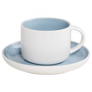 TINT Tasse mit Untertasse Hellblau, Porzellan