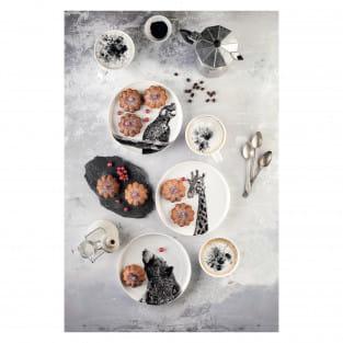 MARINI FERLAZZO Teller 20cm, Asiatic Black Bear, Premium-Keramik, in Geschenkbox