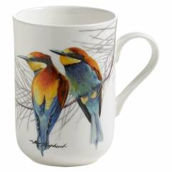 BIRDS OF THE WORLD Becher Bienenfresser, Bone China Porzellan, in Geschenkbox