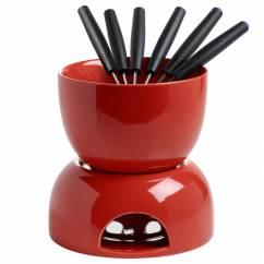 INFUSIONST Schokoladenfondue 8-teilig Rot, Keramik, in Geschenkbox