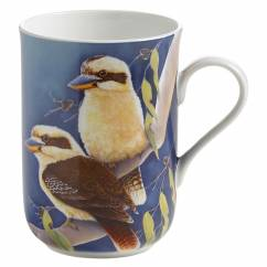 BIRDS OF AUSTRALIA Becher Lachender Hans, Bone China Porzellan, in Geschenkbox