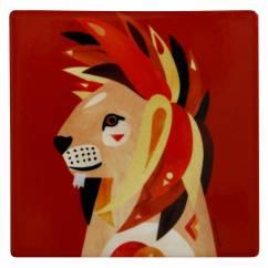PETE CROMER Keramikuntersetzer Lion, Keramik - Kork