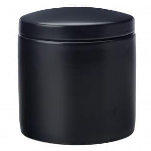 EPICURIOUS Vorratsdose Schwarz, 1000 ml, Porzellan, in Geschenkbox