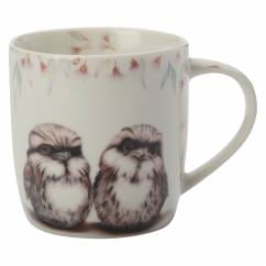 SALLY HOWELL Becher in Dose Owls, Porzellan - Metall