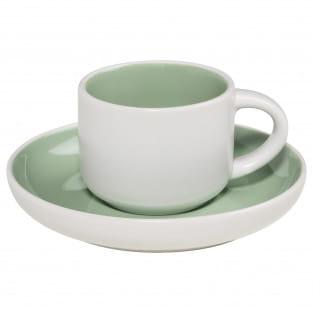 TINT Espressotasse mit Untertasse Mint, Porzellan