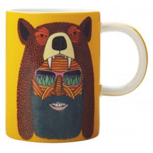 MULGA Becher Bear Man, Porzellan, in Geschenkbox