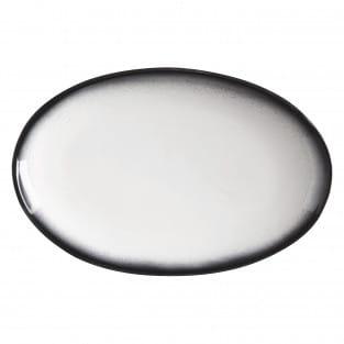 CAVIAR GRANITE Platte oval, 25 x 16 cm, Premium-Keramik