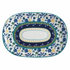 RHAPSODY Platte Blau, 40 x 28 cm, Keramik, in Geschenkbox