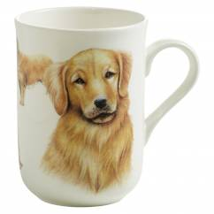PETS Becher Golden Retriever Hund, Bone China Porzellan, in Geschenkbox