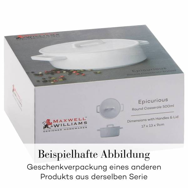 EPICURIOUS Vorratsdose Schwarz, 600 ml, Porzellan, in Geschenkbox