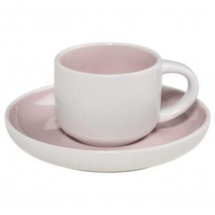 TINT Espressotasse mit Untertasse Rosa, Porzellan