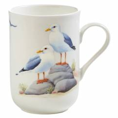 BIRDS OF THE WORLD Becher Seemöwe, Bone China Porzellan, in Geschenkbox