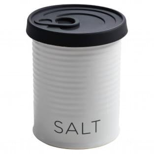 CANISTER Vorratsdose mit Silikondeckel Schwarz Salt, 500 ml, Porzellan - Silikon, in Geschenkbox