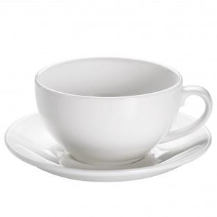 ROUND Cappuccinotasse mit Untertasse 310 ml, Porzellan