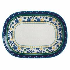 RHAPSODY Platte Blau, 45 x 33 cm, Keramik, in Geschenkbox