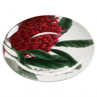 BOTANIC Teller Floral Telopea, 15 cm, Bone China Porzellan, in Geschenkbox