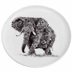 MARINI FERLAZZO Teller 20cm, African Elephant, Premium-Keramik, in Geschenkbox