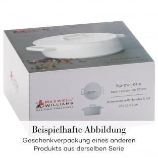 EPICURIOUS Vorratsdose Weiß, 600 ml, Porzellan, in Geschenkbox