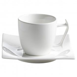 MOTION Tasse mit Untertasse, Porzellan