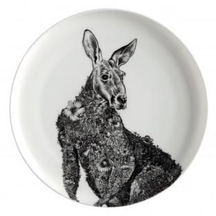 MARINI FERLAZZO Teller Kangaroo, Premium-Keramik, in Geschenkbox
