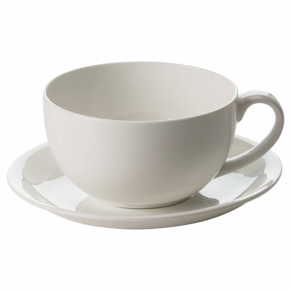 CASHMERE RESORT Cappuccinotasse mit Untertasse 350 ml, Bone China Porzellan