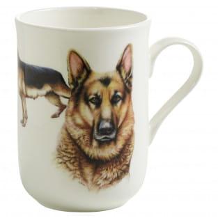 PETS Becher Schäferhund Hund, Bone China Porzellan, in Geschenkbox