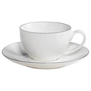 EDGE Espressotasse mit Untertasse, Premium-Keramik
