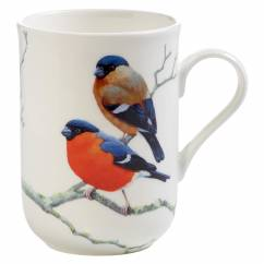 BIRDS OF THE WORLD Becher Dompfaff, Bone China Porzellan, in Geschenkbox