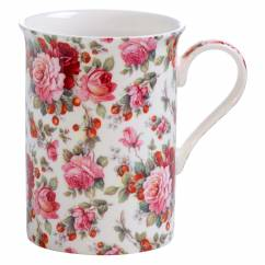 ROYAL OLD ENGLAND Becher Sommerrose, Bone China Porzellan, in Geschenkbox
