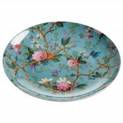KILBURN Teller Victorian Garden, 20 cm, Bone China Porzellan, in Geschenkbox