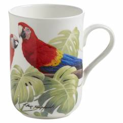 BIRDS OF THE WORLD Becher Ara, Bone China Porzellan, in Geschenkbox