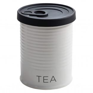 CANISTER Vorratsdose mit Silikondeckel Schwarz Tea, 750 ml, Porzellan - Silikon, in Geschenkbox