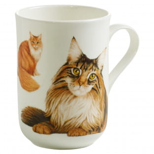 PETS Becher Maine Coon Katze, Bone China Porzellan, in Geschenkbox