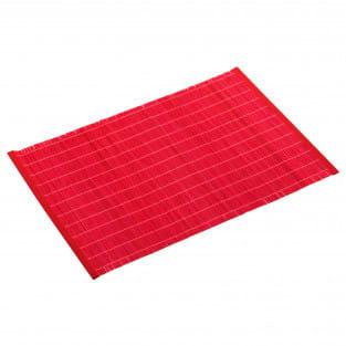 PLACESETS Platzset Rot, 45 x 30 cm, Bambus