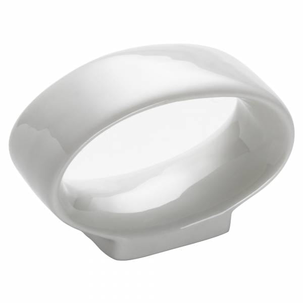 ROUND Serviettenring oval, Porzellan
