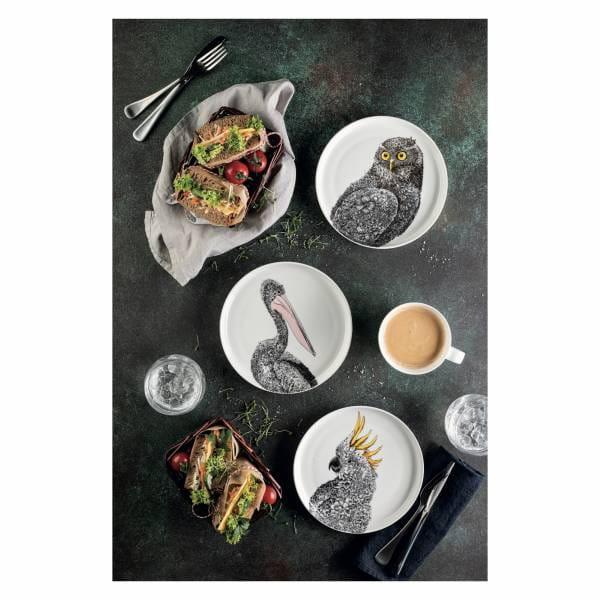 MARINI FERLAZZO Teller 20 cm, Pelican, Premium-Keramik, in Geschenkbox