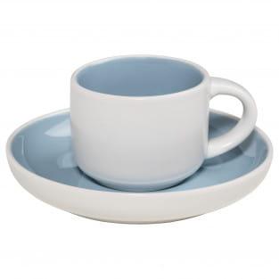 TINT Espressotasse mit Untertasse Hellblau, Porzellan