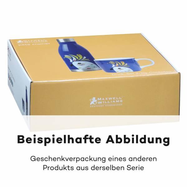 PETE CROMER Drink-Set 2-tlg., Galah, Edelstahl - Porzellan, in Geschenkbox