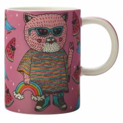 MULGA Becher Cat, Porzellan, in Geschenkbox