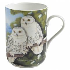 BIRDS OF THE WORLD Becher Schneeeule, Bone China Porzellan, in Geschenkbox