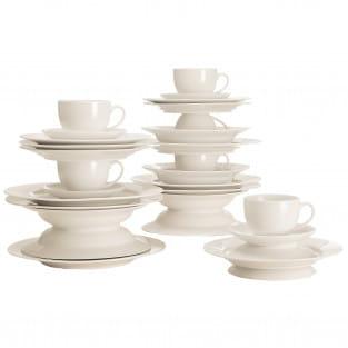ROUND Kaffee- und Tafelset 30-teilig, Porzellan, in Geschenkbox