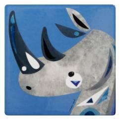 PETE CROMER Keramikuntersetzer Rhino, Keramik - Kork