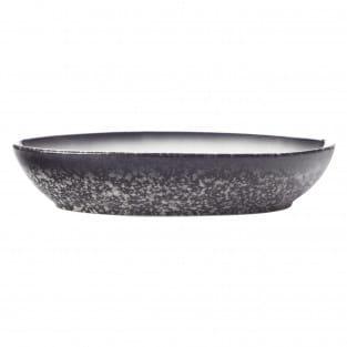 CAVIAR GRANITE Schale oval, 20 x 14 cm, Premium-Keramik