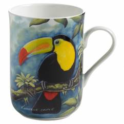 BIRDS OF THE WORLD Becher Tukan, Bone China Porzellan, in Geschenkbox