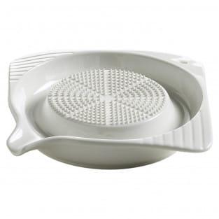 KITCHEN Reibe mit Kunststofffuß, 12 cm, Porzellan